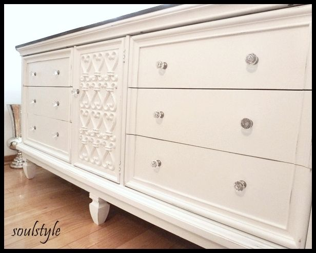 Painted Dresser 2: Paintings Furniture, Posts Cap, Old Furniture, Bedrooms Sets, Old Dressers, Stained Dresser, Paintings Dressers, Fence Posts, Ads Legs