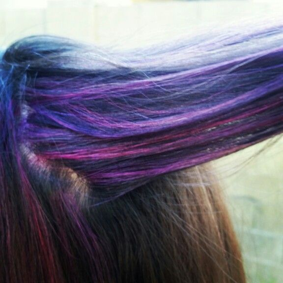 Pink and purple hair♡