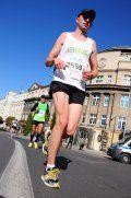 Wojciech Ginter w trakcie Maratonu Poznań