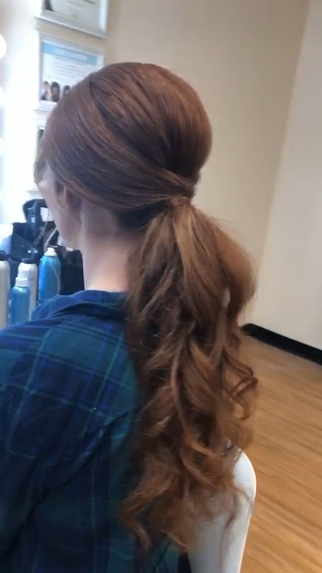 This stunning redhead is rockin with her natural hair. Flat ironed from curly to straight and flowy! See my Instagram for the full transformation!  #desithediva #hairstyles #longhairponytail #htxmua #htxhair #redhair #redhead #rapunzel #rapunzelhair #beautifulhair