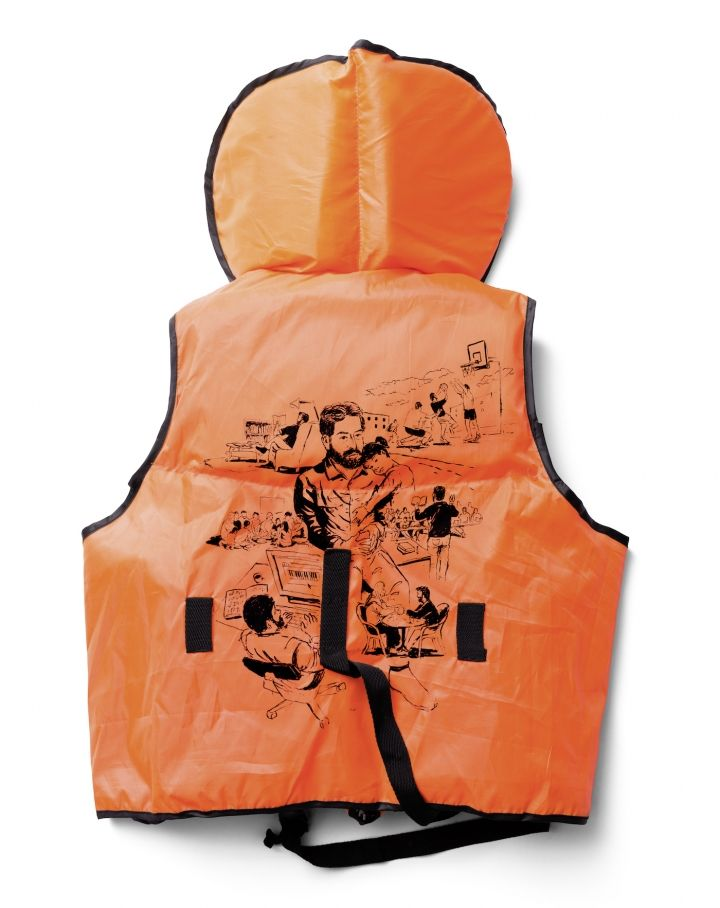 Drawing Refugees' Stories on Life Jackets