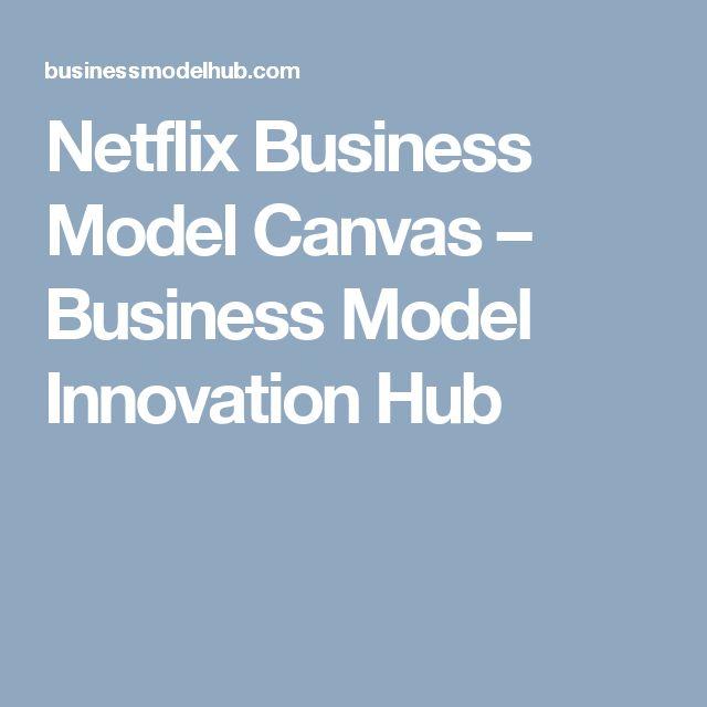 Netflix Business Model Canvas – Business Model Innovation Hub