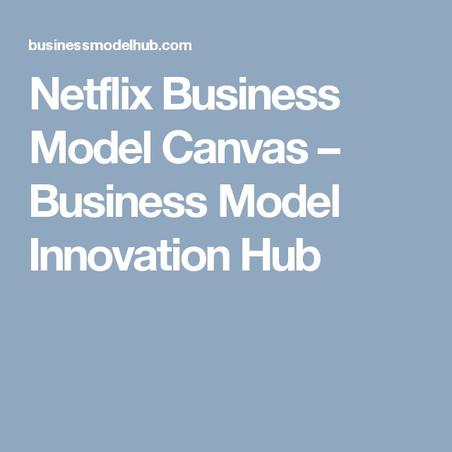 Netflix Business Model Canvas – Business Model Innovation Hub