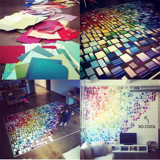 diy: paint chip wall