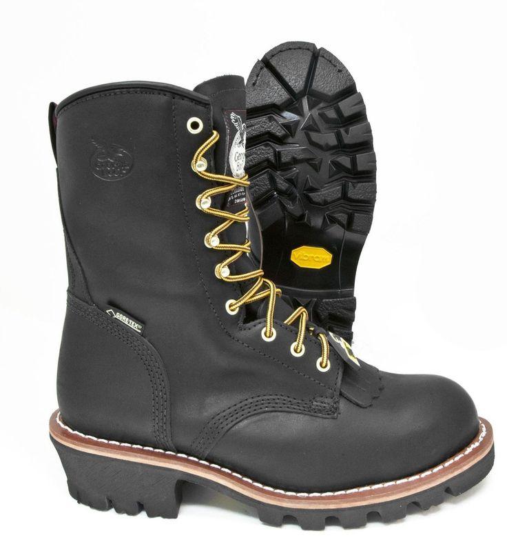 Georgia Boot Gortex Insulated Steel Toe Black Leather Waterproof Logger Boot � G9380