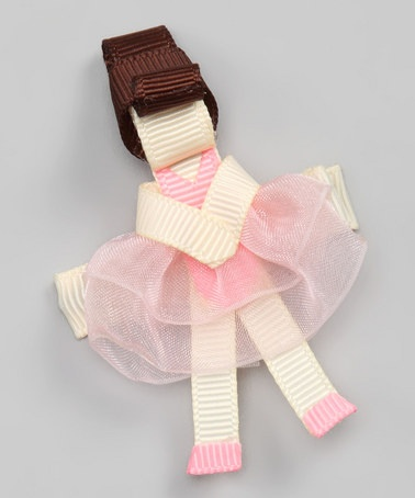 Take a look at this Brunette Ballerina Clip by Sugar Baby Hairbows on #zulily today!