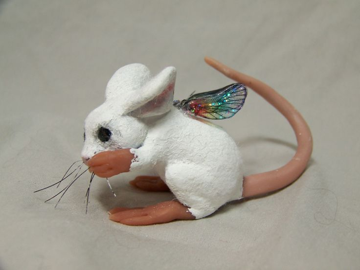 polymere clay fairies | ooak polymer clay fairy mouse sculpture art doll by Kate Sjoberg: Art Dolls