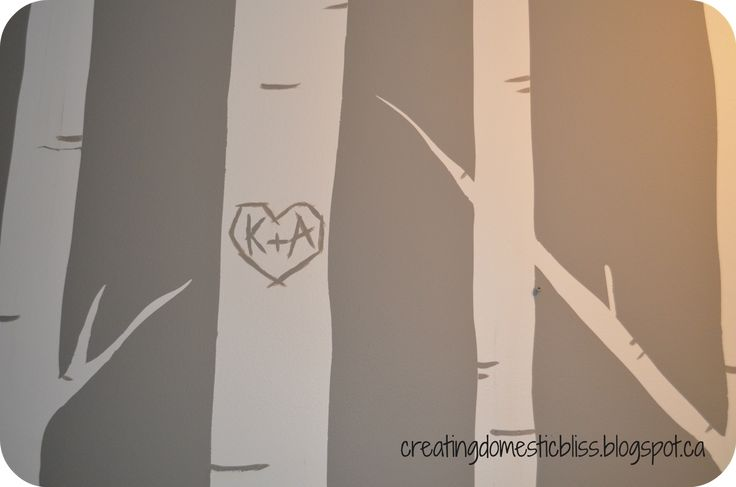 how to paint birch trees on a wall - Google Search