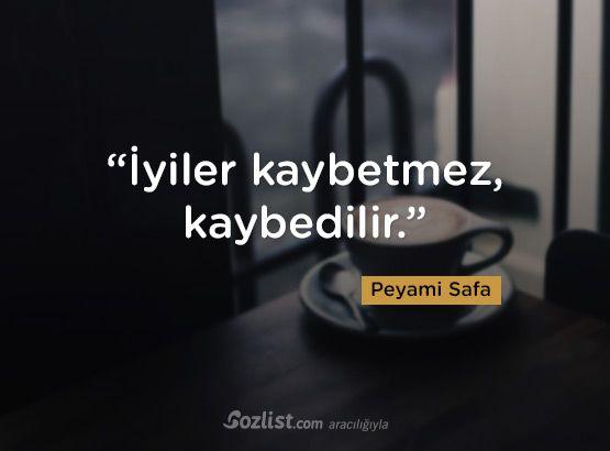"""""""İyiler kaybetmez, kaybedilir."""" #peyami #safa #sözleri #yazar #şair #kitap #şiir #özlü #anlamlı #sözler"""