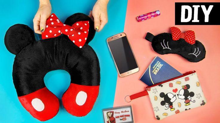 DIYs Mickey e Minnie  Necessaire, Máscara e Almofada | Ideias para Viagem