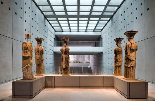 """Pictured are five of the original six Caryatids....the missing Caryatid from the Acropolis Museum in Athens is in the British Museum as a result of its appropriation by Lord Elgin...Here's one for the ages: British MP, Neil Kinnock famously stated, """"The Parthenon without the marbles is like a smile with a tooth missing."""""""