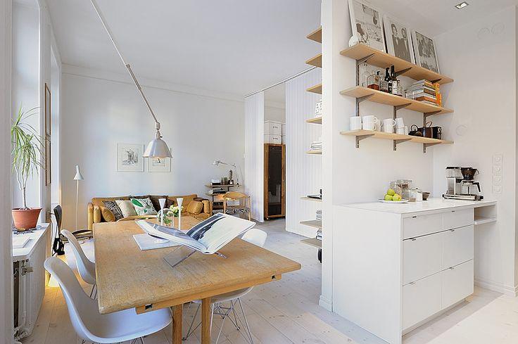 Monoambiente decorado estilo escandinavo