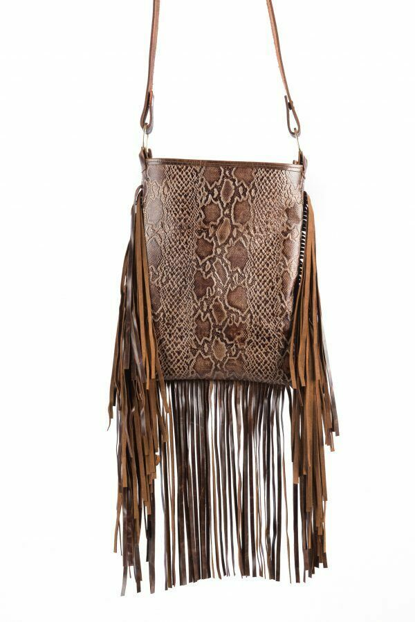 Cross Body Distressed Leather