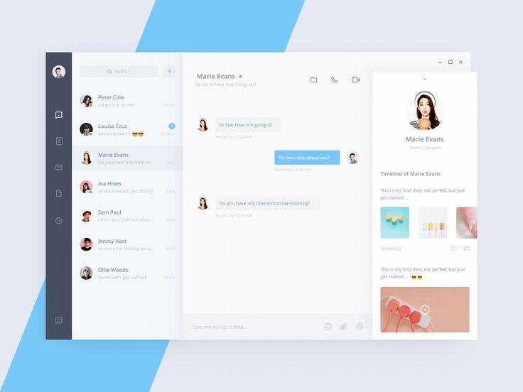 Message interfaces 2017 – Muzli -Design Inspiration