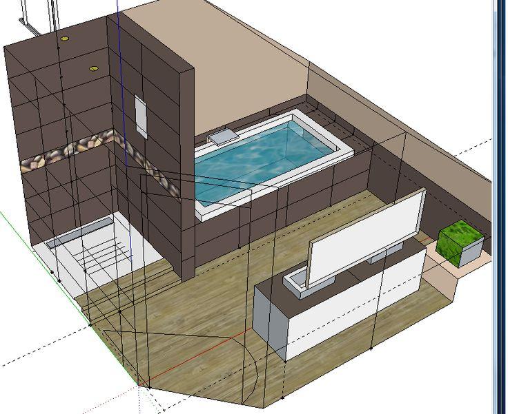 Salle de bain mansard e nature recherche google maison pinterest natu - Plan salle de bain moderne ...
