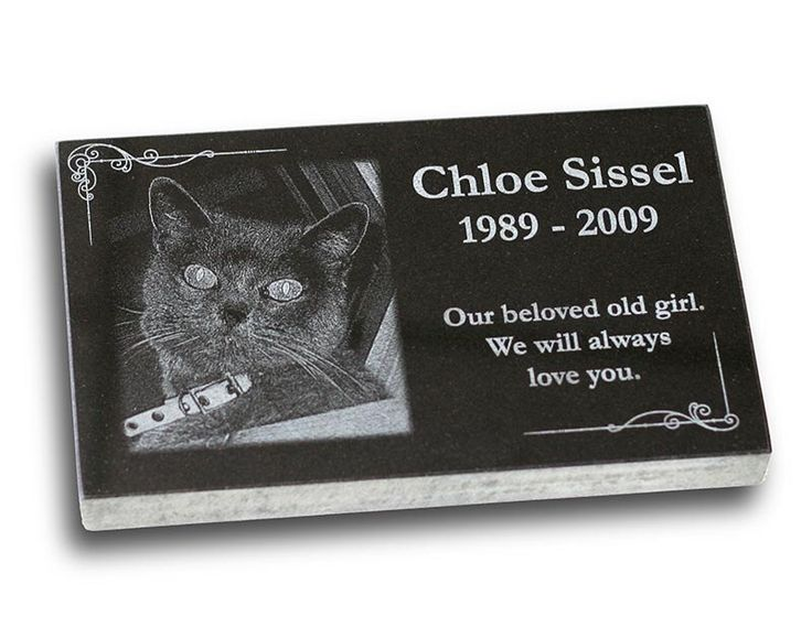"""Standard Pet Grave Marker Headstone (Small 7"""" x 4"""" x 1"""") for Dogs & Cats by PetMemorialProducts on Etsy https://www.etsy.com/listing/172202873/standard-pet-grave-marker-headstone"""