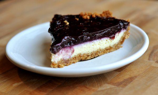 Mel's Kitchen Cafe   Blueberry Cheesecake Pie