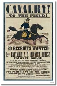 Cavalry! U.S. Civil War Recruitment PosterVintage Posters, Posters Civil, Civil Wars, Propaganda Posters, Picture-Black Posters, Recruitment Posters, Union Recruitment, Wars Recruitment, Posters Reproduction