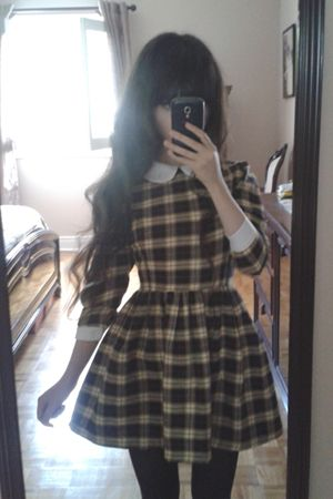 Plaid Dress. This is a little like what I envision my next(?) sewing project to look like. The skirt, especially.