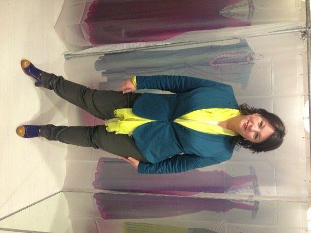 Dyanne+, Dyanne Beekman, grote maten mode, plus size, leren legging, colbert, Oopz, Siervol