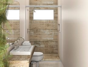 Posible distribución baño pequeño con ducha