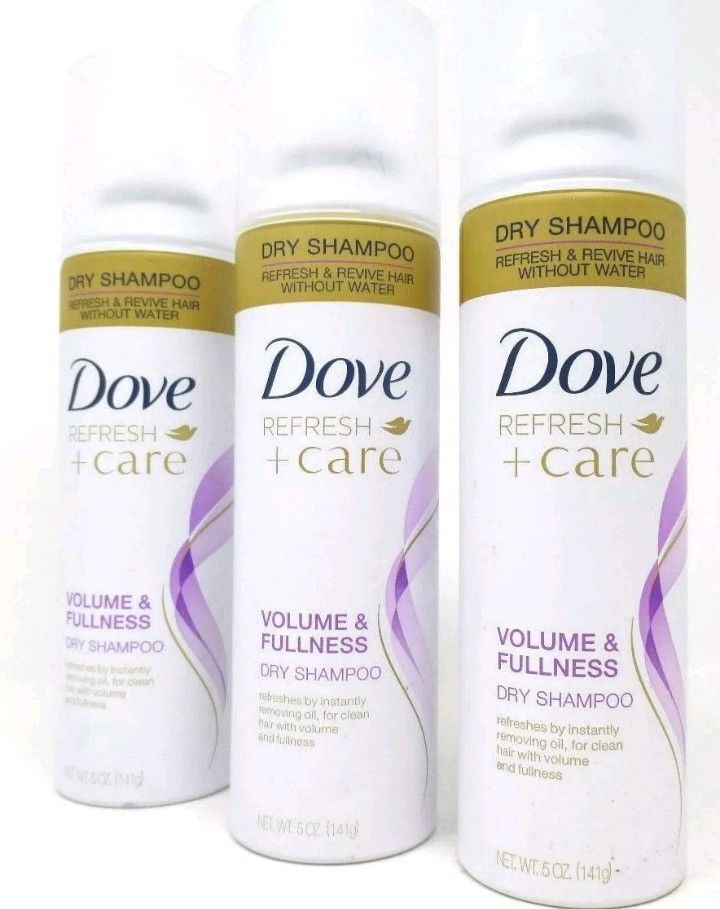 Dove Refresh Care Dry Shampoo Volume And Fullness 5 Oz Each 3 Count Dove Dry Shampoo Dry Shampoo Hairstyles Shampoo