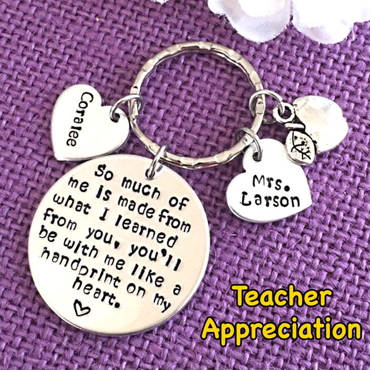 Custom Personalized Teacher Appreciation Gifts! Click the image above to view the full jewelry collection of Teacher Gifts!