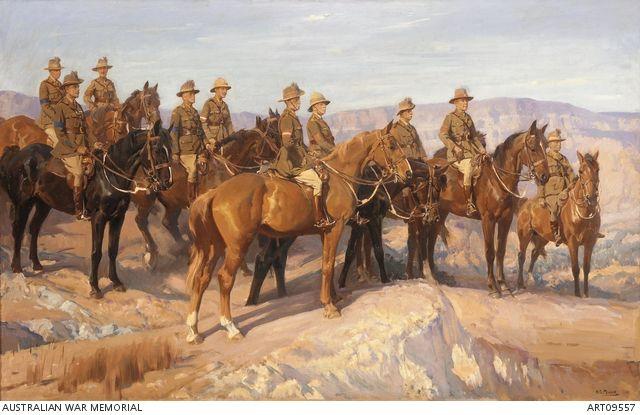 Leaders of the Australian Light Horse in Palestine, 1918