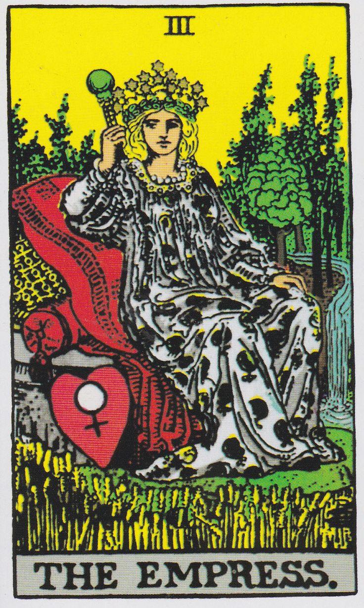 The Empress And Death Antique Tarot Cards: The Empress - Albano-Waite Tarot