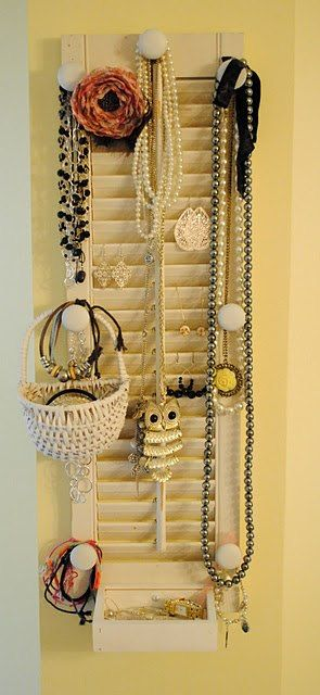 De persiana a joyero. #IdeasenOrden #closets #decoracion #persianas
