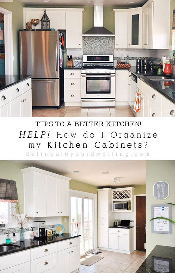 11 Tips For Organizing Your Kitchen Cabinets In The Most Ideal Locations Kitchen Cabinet Organization Layout Kitchen Design Kitchen Design Small