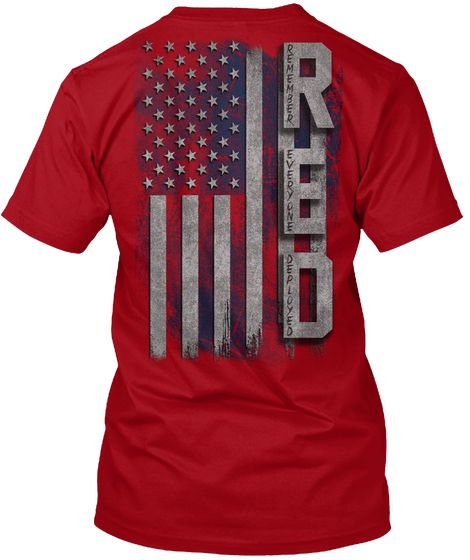 R.E.D. Flag - red T-Shirt from Red Friday Best Sellers   Teespring