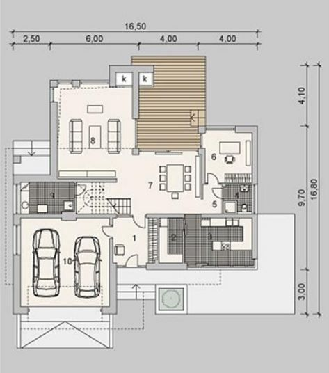 Fachadas y planos de casas de dos pisos casa 2 for Planos de casas de dos niveles