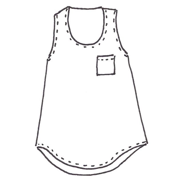Image of Wiksten Tank Sewing Pattern Downloadable PDF