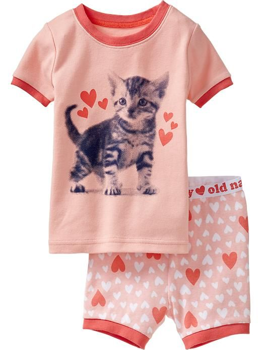 Kitten Love PJ Sets for Baby Product Image