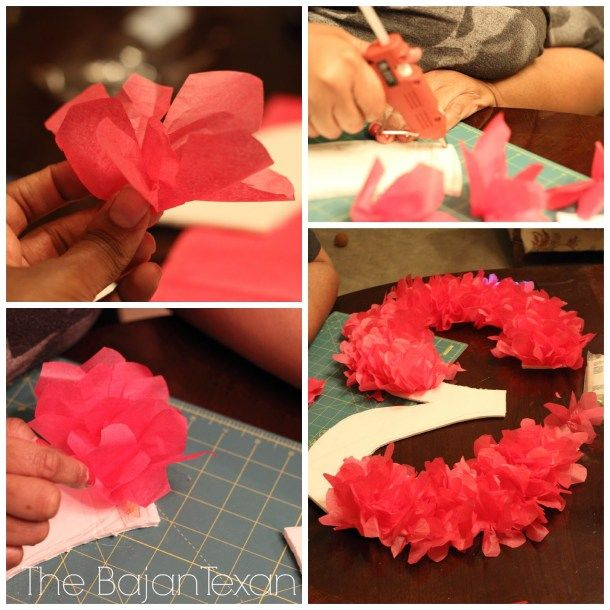 How to make a tissue paper birthday number sign-- maybe gold tissue paper?