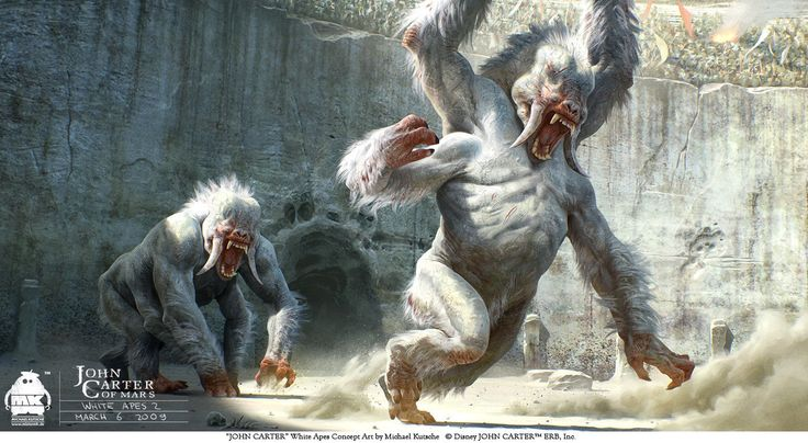ArtStation - John Carter - Early White Apes Concept, Michael Kutsche