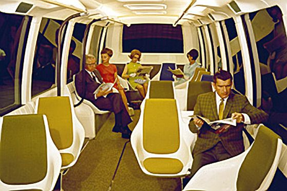 Interior from the 1968 GM Rapid Transit Bus (via GMheritagecenter)