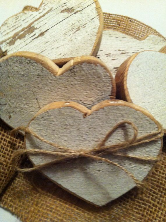 Primitive little hearts from a vintage white picket fence.
