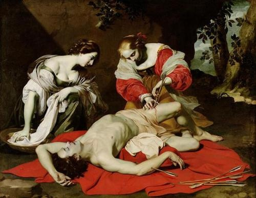 The Succouring of Saint Sebastian by Nicolas Regnier