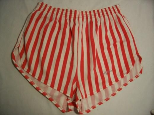 Striped Dolfins: Every girl had them and I laugh every time I see a picture of me wearing them..