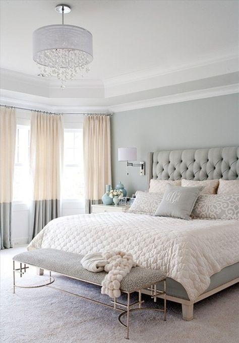 Couleur chambre adulte en gris design #bedroominteriorideas Luxury