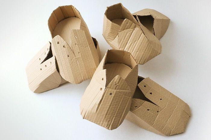 cardboard booties