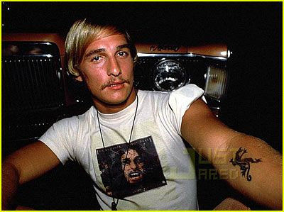"""@Jodi Mae Do you remember when you had that picture of Matthew McConaughey and I was soooo jealous?  I remember it said """"JKL."""""""