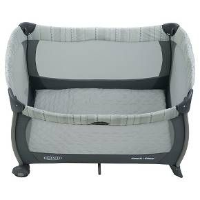 Two babies mean double the cuddles - and double the need for comfort. The Graco Pack 'n Play Playard with Twin Bassinets is a roomy play pen that makes a perfect spot for your new babies to rest with its cozy, quilted twin bassinets and light-shielding canopies. Sweet dreams!<br><br>• Twin bassinet slumber dome canopies shield your twins from bright light<br>• Cozy, quilted twin bassinets perfect for your babies to rest; quilted mattress pad creates a c...