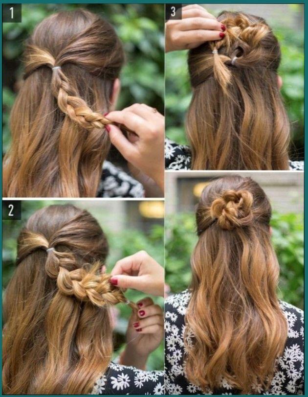 20 Peinados Medio Recogido Lacio Peinados Peinadosfaciles Peinadospara Peinados Peinados Pelo Medio Cabello Largo Y Rubio Peinados Sencillos Cabello Largo