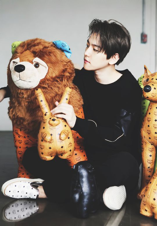 "Exo - Baekhyun ""I wanna be one those stuffed animals frfr"" Instagram: ad.x.ra"