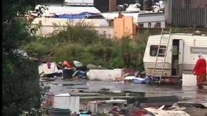 11/09/13.Au sud de Lille, le campement qui abritait à l'origine 750 ressortissants roumains et bulgares a à nouveau été déplacé ce mercredi, pour la troisième fois depuis le 25 juillet. Plusieurs dizaines de policiers, appuyés par un escadron de CRS étaient sur place. Le but est de réduire le plus grand camp rom de la ville. LIRE SUR http://www.bfmtv.com/video/bfmtv/societe/lille-demantelement-plus-grand-camp-roms-ville-11-09-145814/