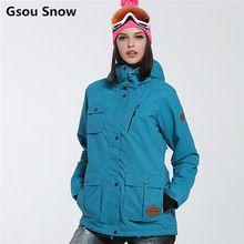US $132.91 New Gsou Snow ski jacket women snowboard jacket women warm waterproof ski wear camouflage abrigos mujer invierno 2016. Aliexpress product