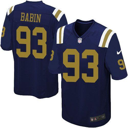 NFL New York Jets Jason Babin Youth Limited Navy Blue #93 Jerseys